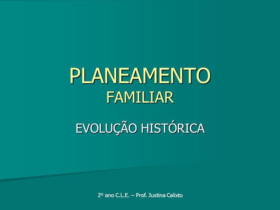 Planeamento Familiar EVOLUÇÃO HISTÓRICA