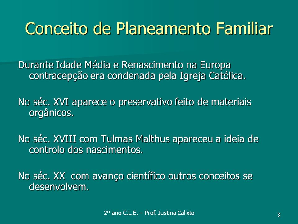 Conceito de Planeamento Familiar