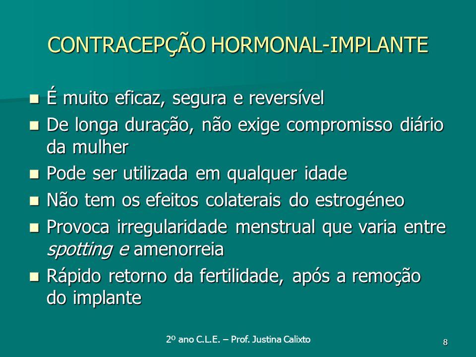 CONTRACEPÇÃO HORMONAL-IMPLANTE