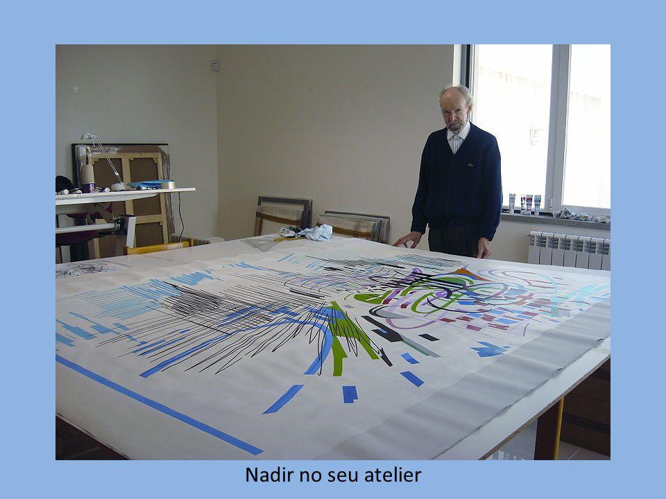 Nadir no seu atelier