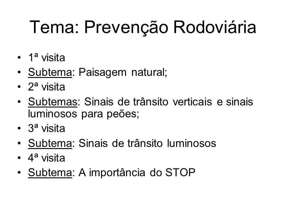 Tema: Prevenção Rodoviária