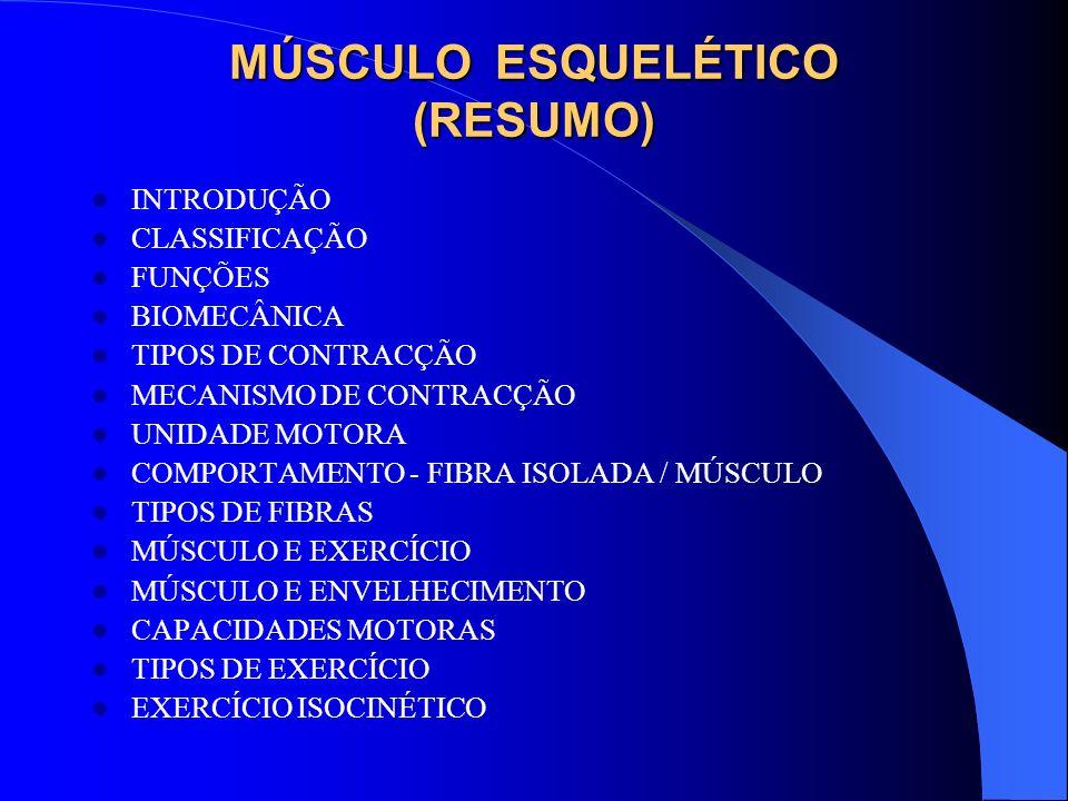 MÚSCULO ESQUELÉTICO (RESUMO)