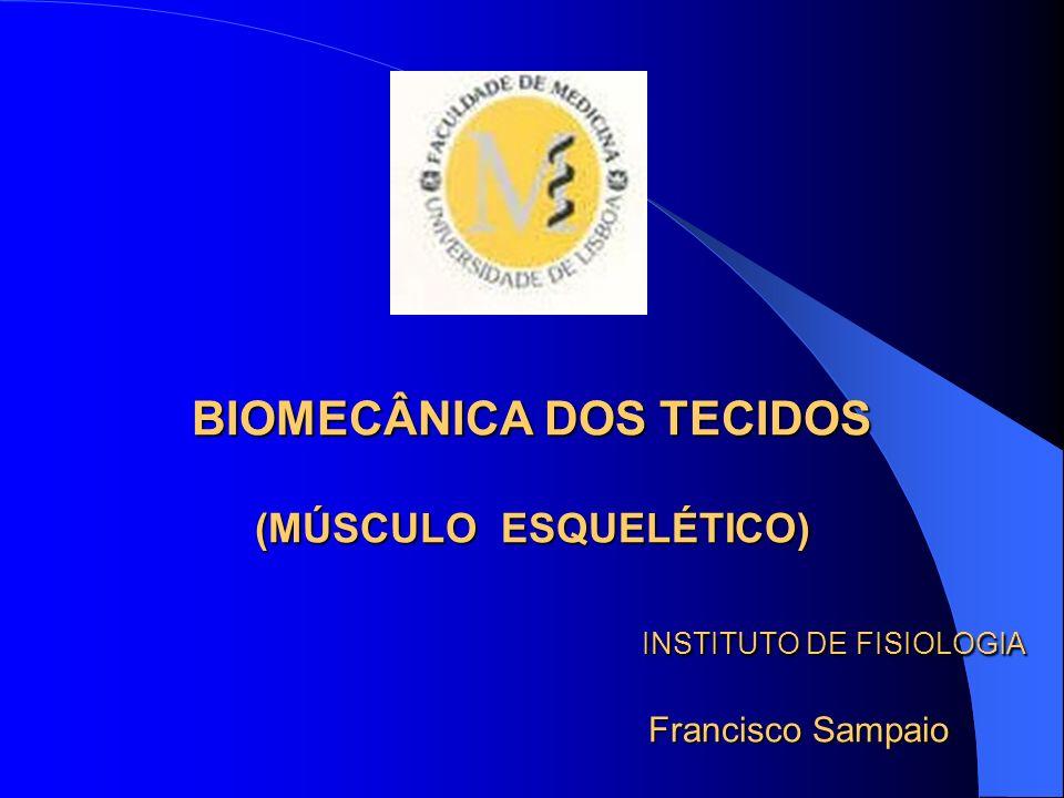 BIOMECÂNICA DOS TECIDOS (MÚSCULO ESQUELÉTICO) INSTITUTO DE FISIOLOGIA