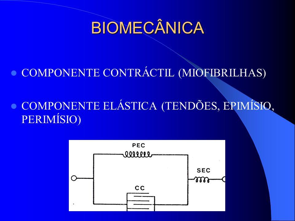 BIOMECÂNICA COMPONENTE CONTRÁCTIL (MIOFIBRILHAS)