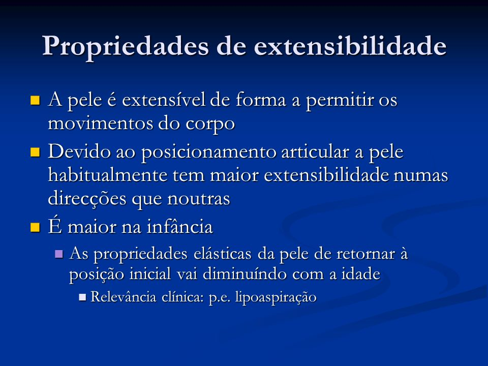 Propriedades de extensibilidade