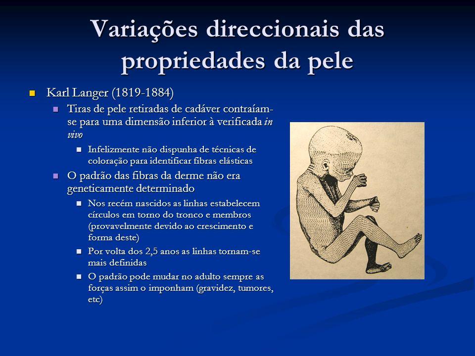 Variações direccionais das propriedades da pele