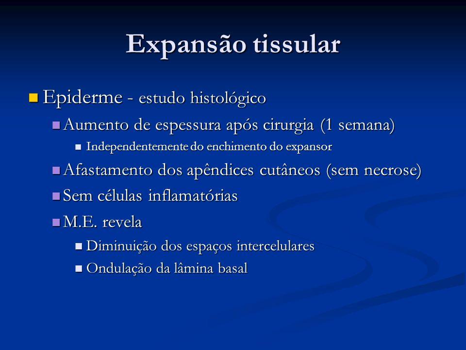 Expansão tissular Epiderme - estudo histológico