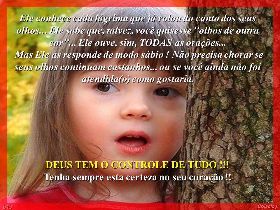 DEUS TEM O CONTROLE DE TUDO !!!