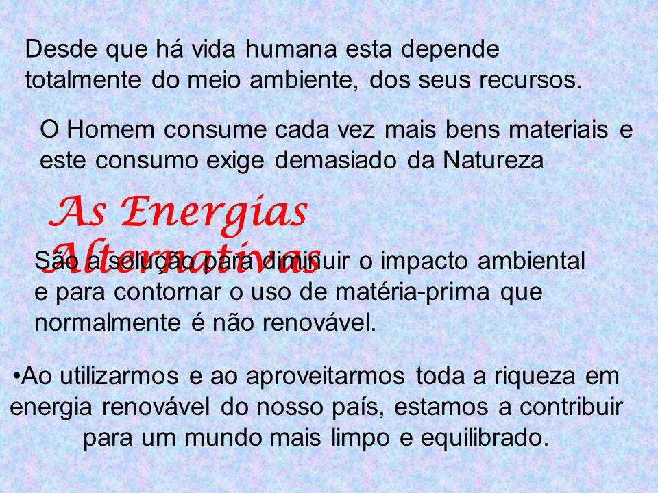 Desde que há vida humana esta depende totalmente do meio ambiente, dos seus recursos.