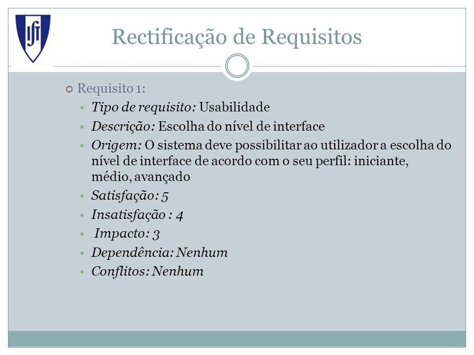 Rectificação de Requisitos