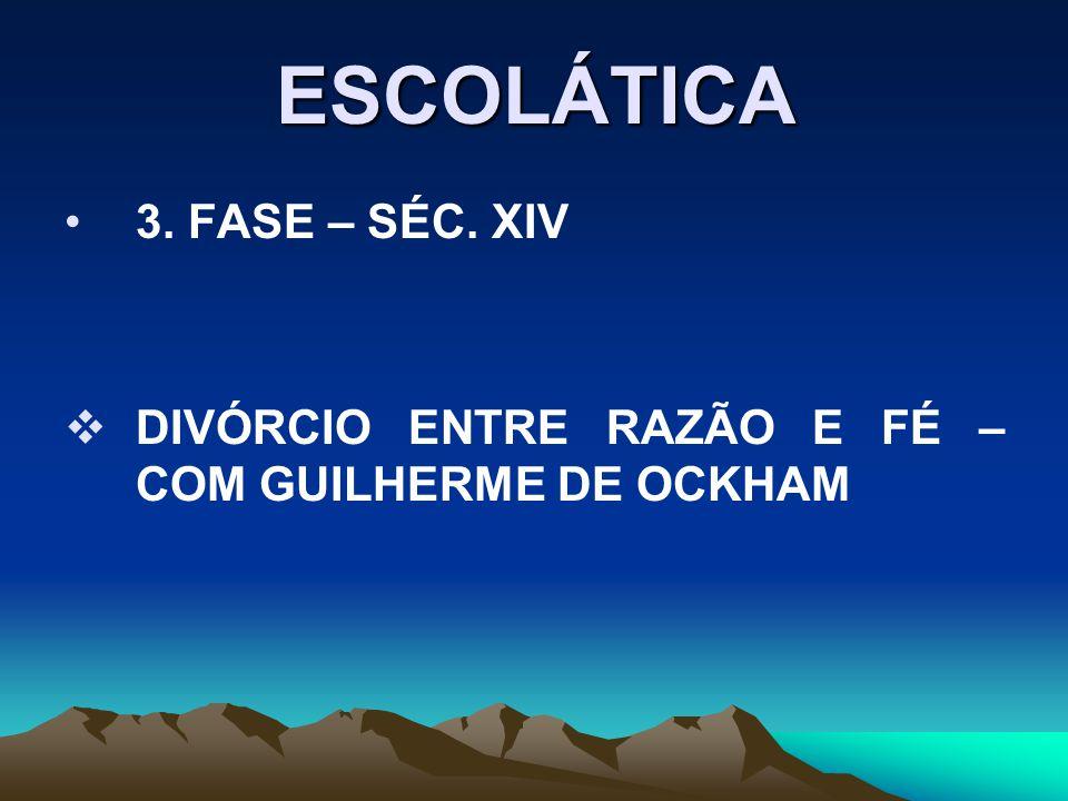ESCOLÁTICA 3. FASE – SÉC. XIV