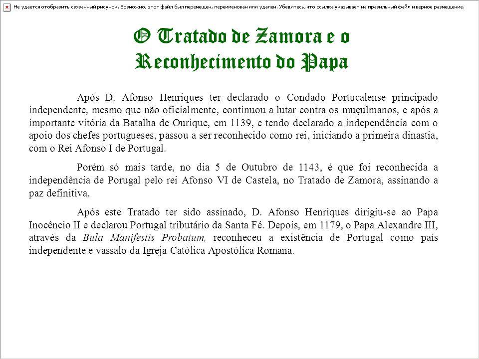 O Tratado de Zamora e o Reconhecimento do Papa