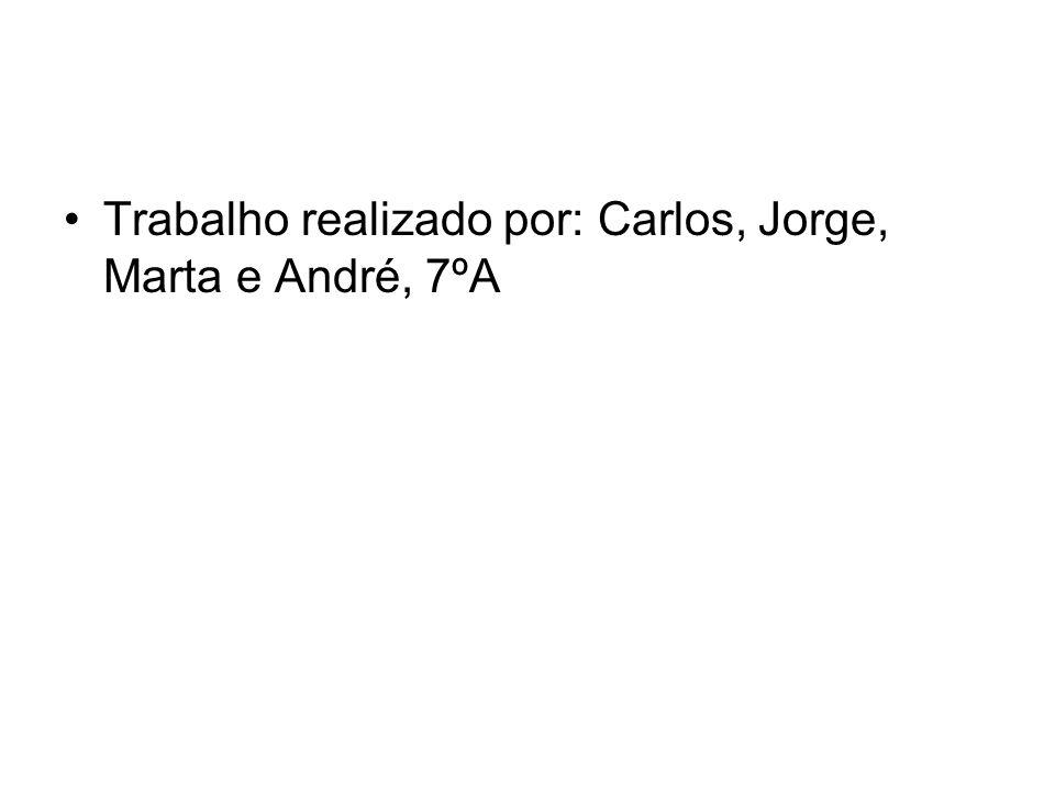 Trabalho realizado por: Carlos, Jorge, Marta e André, 7ºA