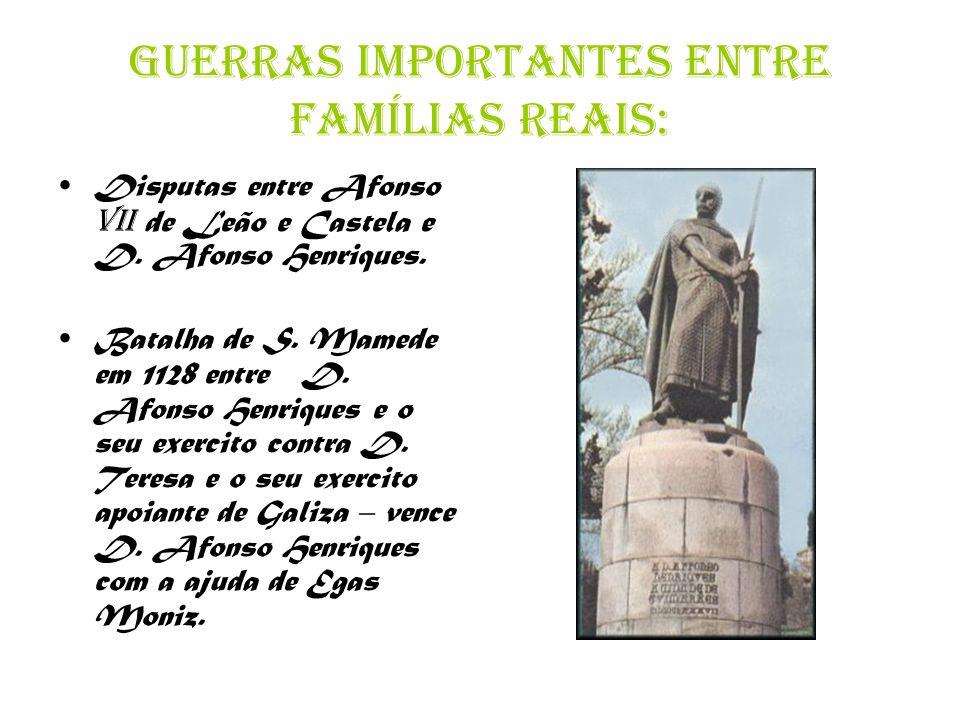 Guerras importantes entre famílias reais: