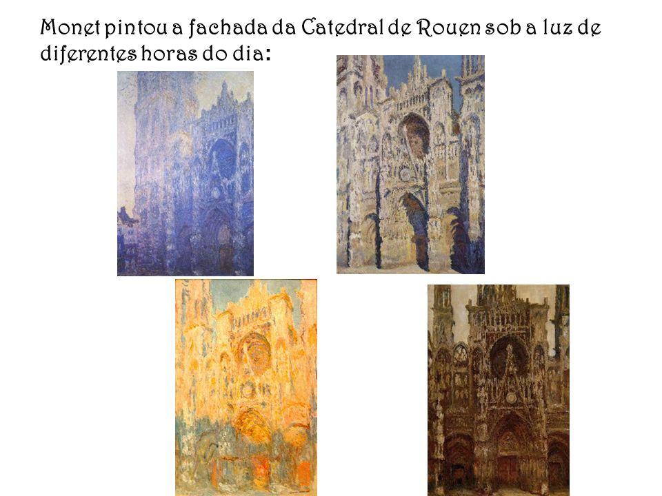 Monet pintou a fachada da Catedral de Rouen sob a luz de diferentes horas do dia: