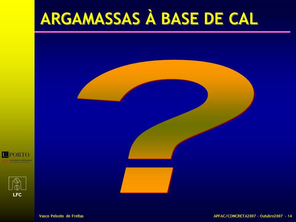 ARGAMASSAS À BASE DE CAL