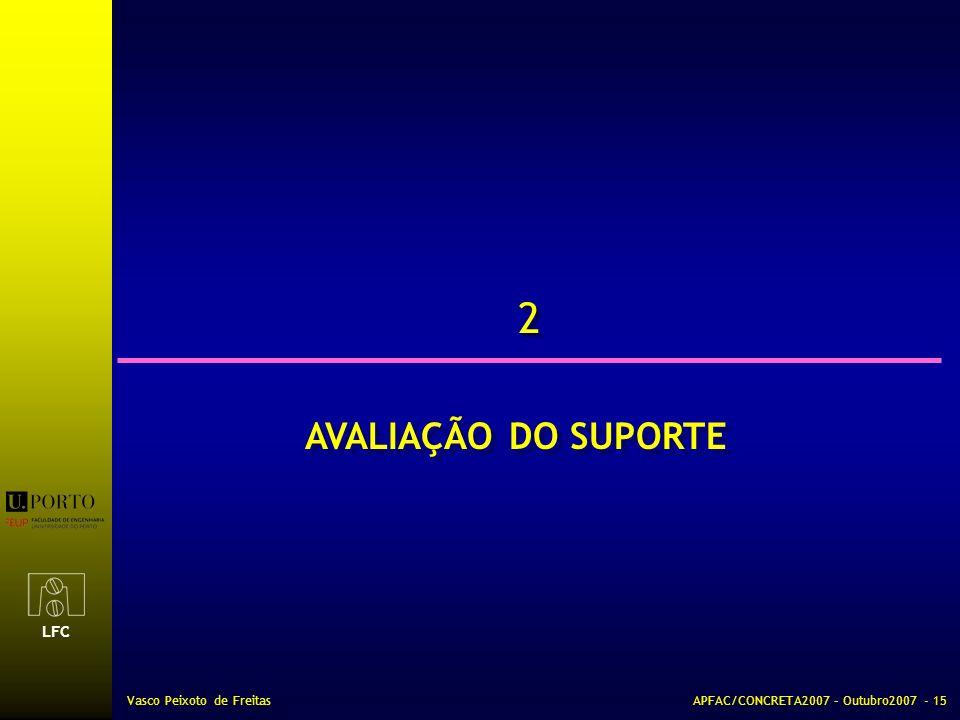 2 AVALIAÇÃO DO SUPORTE Vasco Peixoto de Freitas
