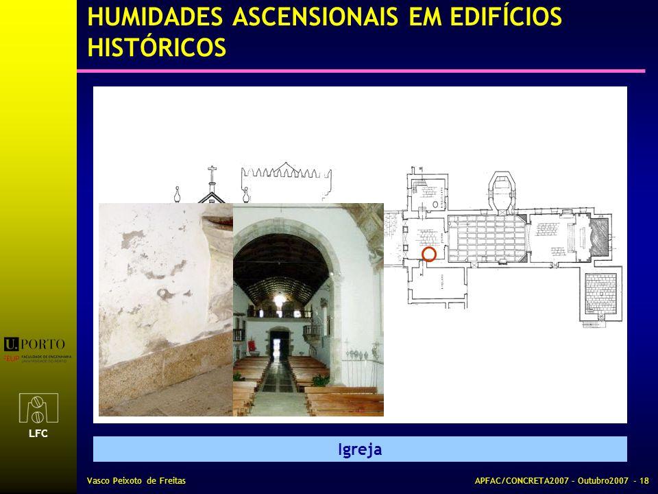HUMIDADES ASCENSIONAIS EM EDIFÍCIOS HISTÓRICOS