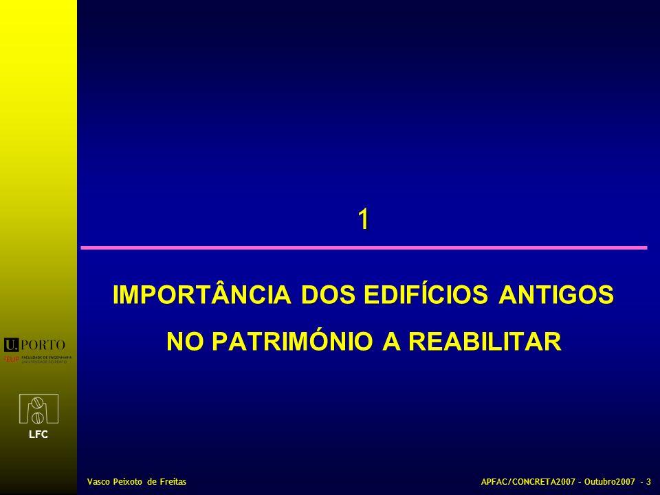 IMPORTÂNCIA DOS EDIFÍCIOS ANTIGOS NO PATRIMÓNIO A REABILITAR