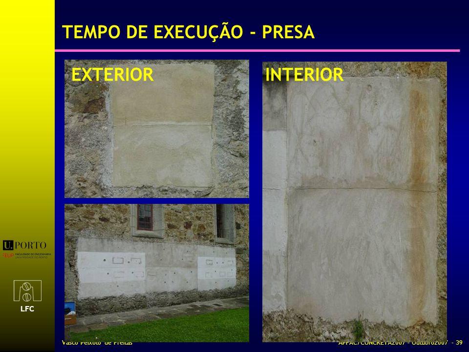 TEMPO DE EXECUÇÃO - PRESA