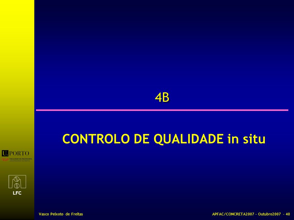 CONTROLO DE QUALIDADE in situ
