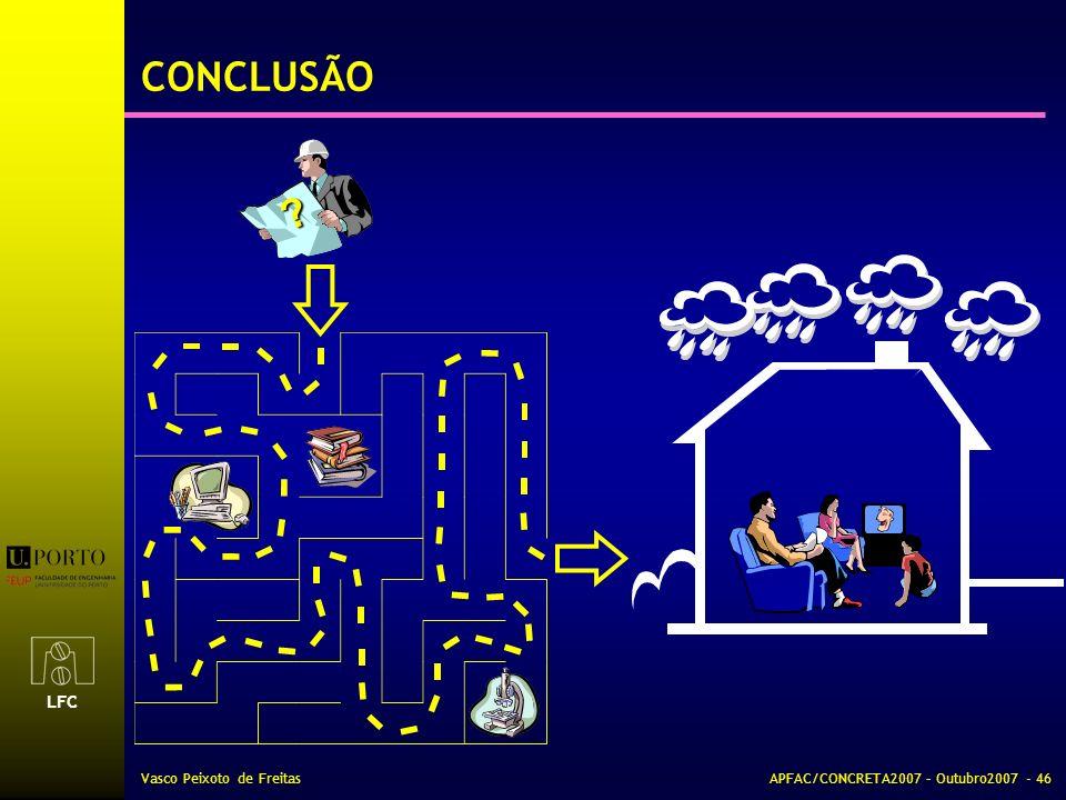 CONCLUSÃO Vasco Peixoto de Freitas