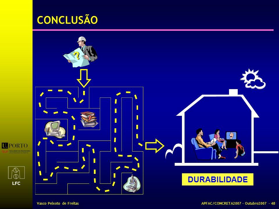 CONCLUSÃO DURABILIDADE Vasco Peixoto de Freitas
