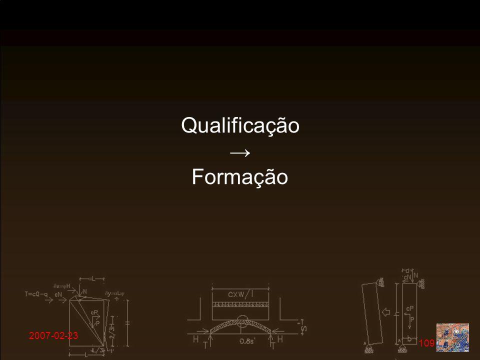 Qualificação → Formação