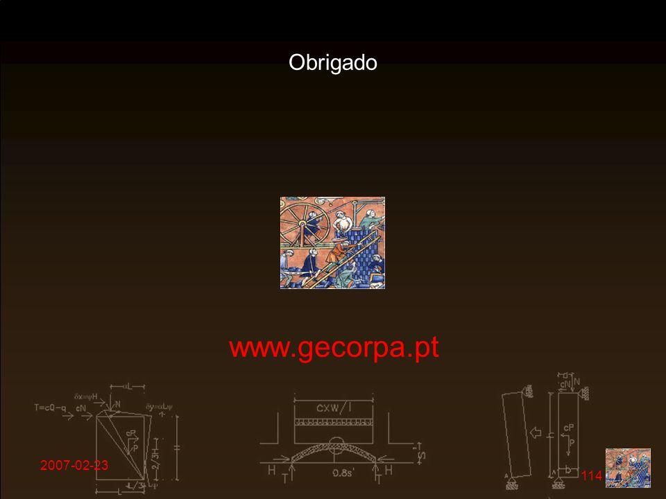 Obrigado www.gecorpa.pt 2007-02-23