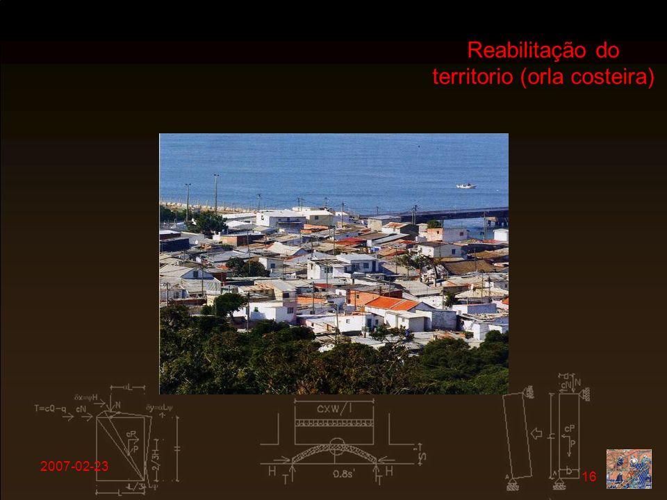 Reabilitação do territorio (orla costeira)
