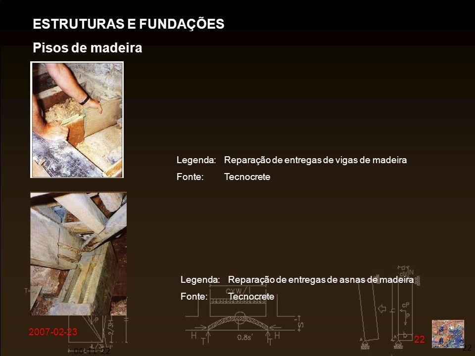 ESTRUTURAS E FUNDAÇÕES Pisos de madeira