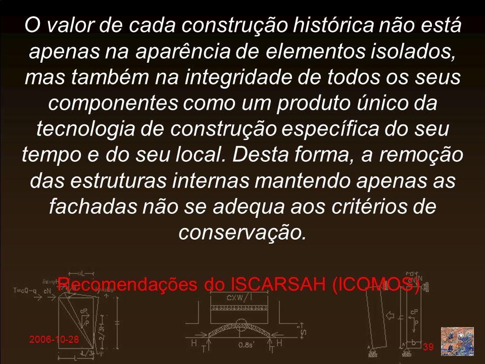 Recomendações do ISCARSAH (ICOMOS)