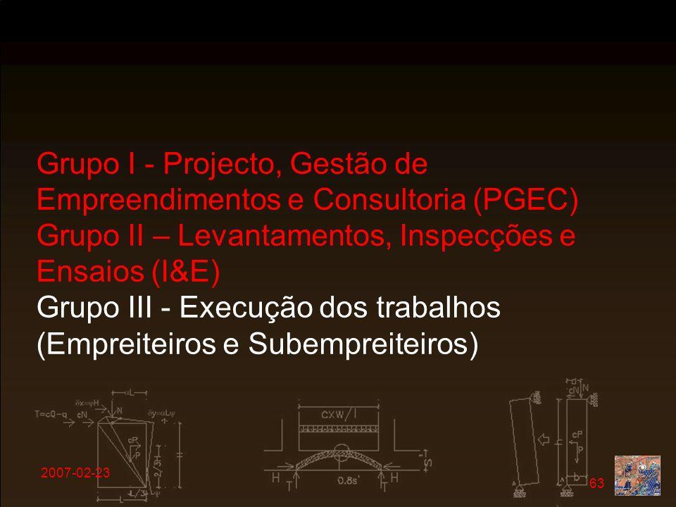 Grupo I - Projecto, Gestão de Empreendimentos e Consultoria (PGEC)