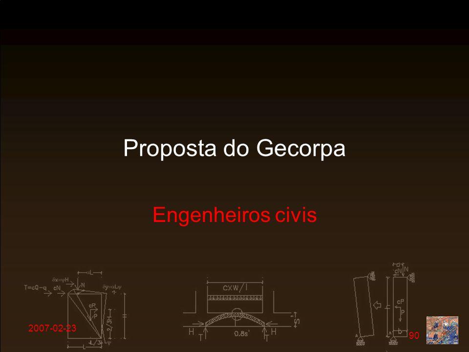Proposta do Gecorpa Engenheiros civis 2007-02-23