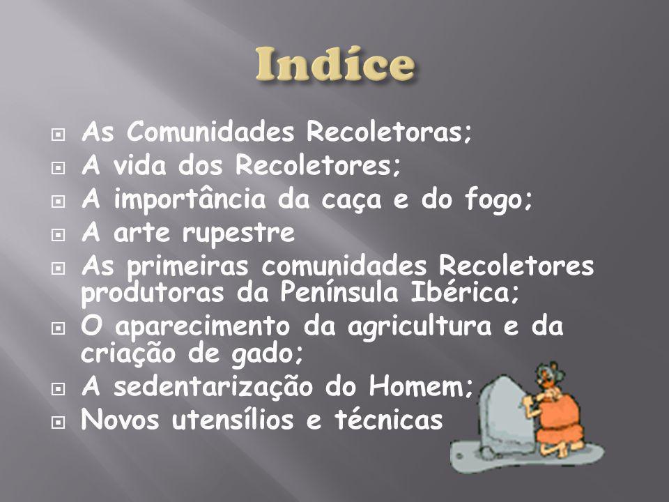 Indíce As Comunidades Recoletoras; A vida dos Recoletores;