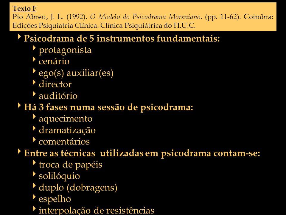 Psicodrama de 5 instrumentos fundamentais: protagonista cenário