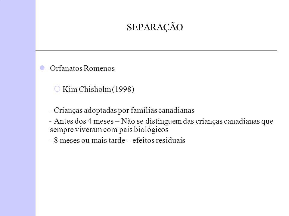 SEPARAÇÃO Orfanatos Romenos Kim Chisholm (1998)