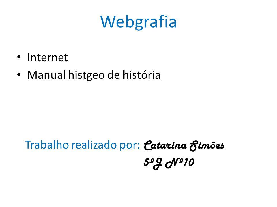 Webgrafia Internet Manual histgeo de história