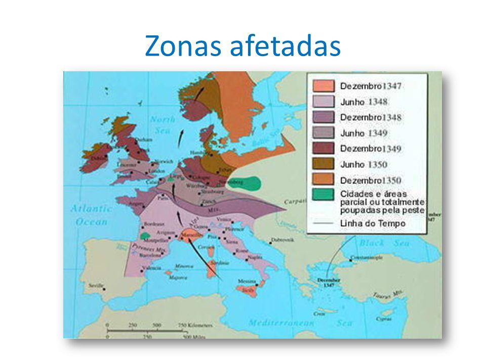 Zonas afetadas
