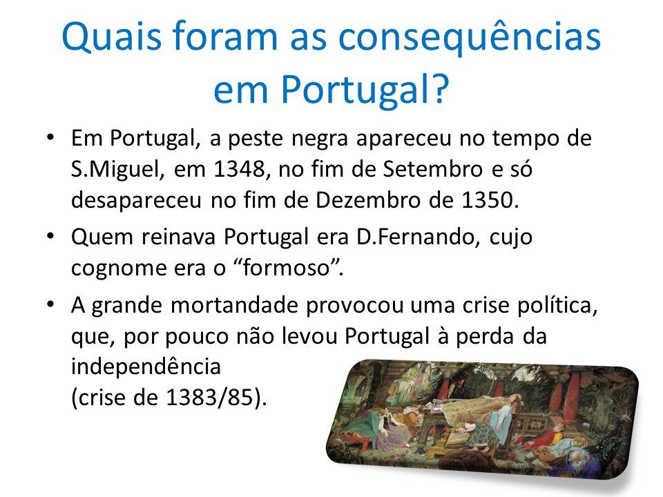 Quais foram as consequências em Portugal