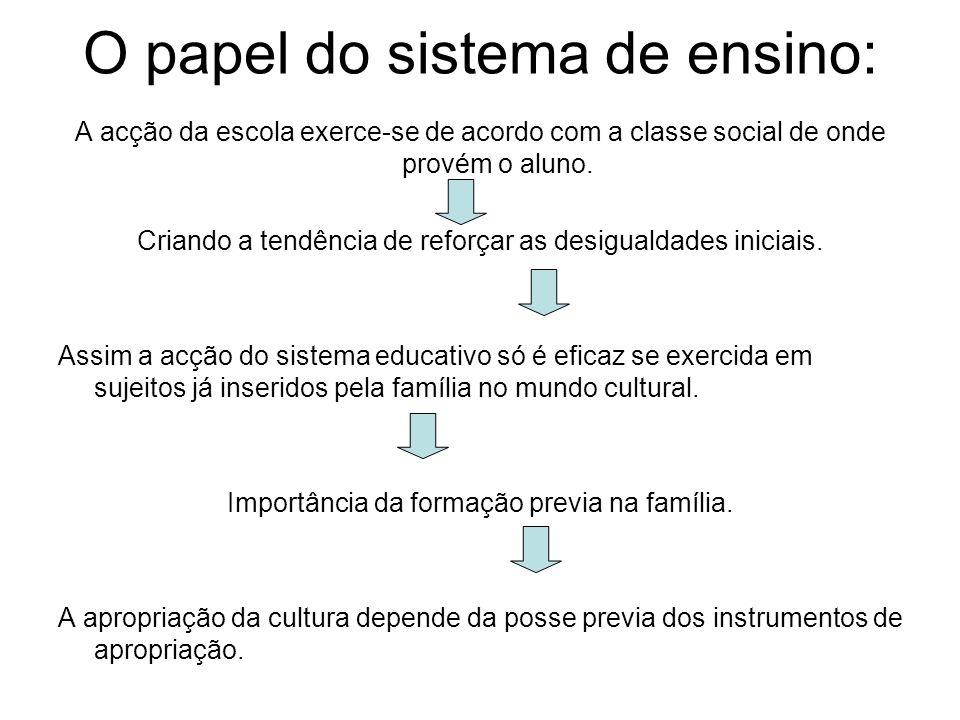 O papel do sistema de ensino: