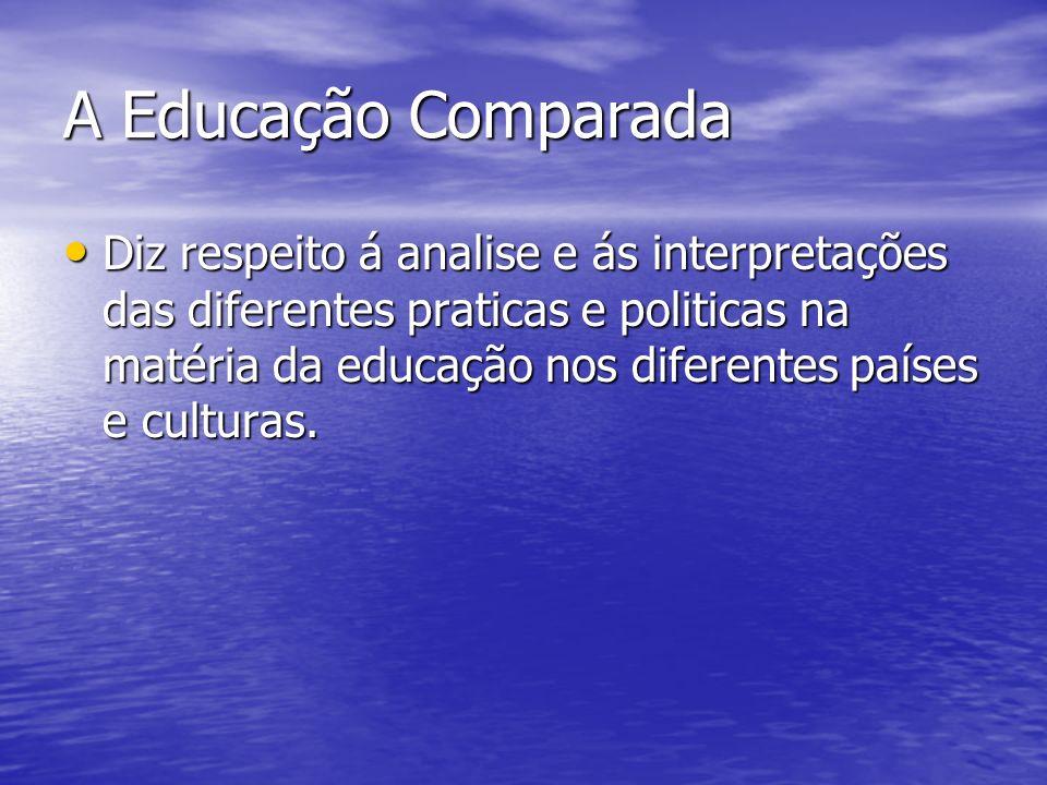 A Educação Comparada