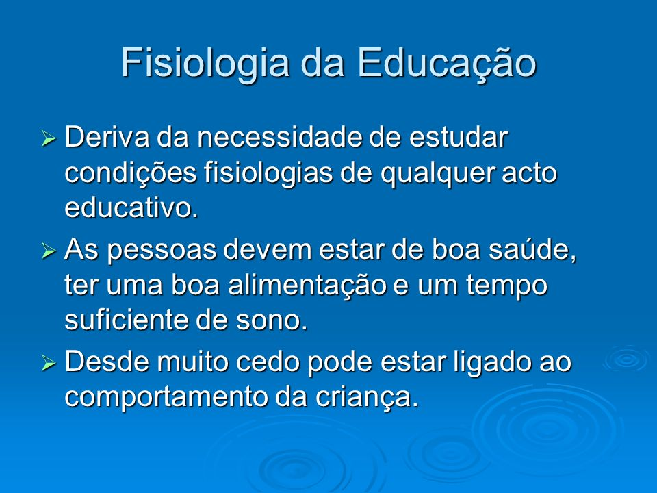 Fisiologia da Educação