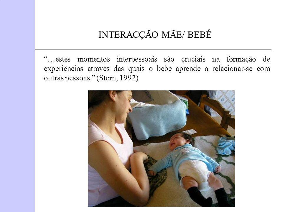 INTERACÇÃO MÃE/ BEBÉ