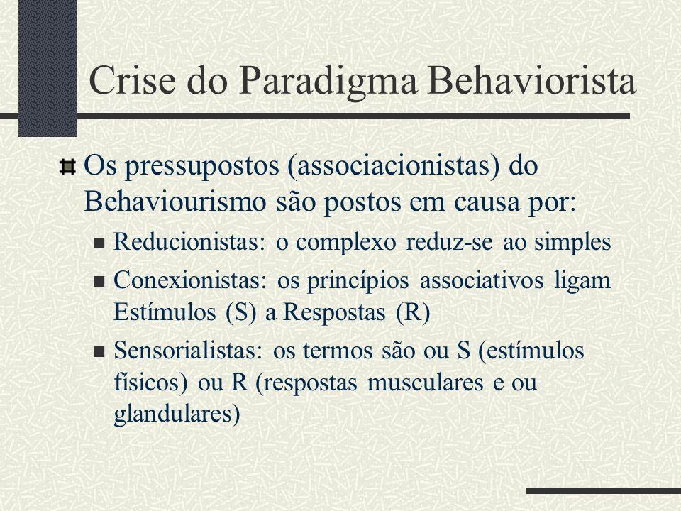 Crise do Paradigma Behaviorista