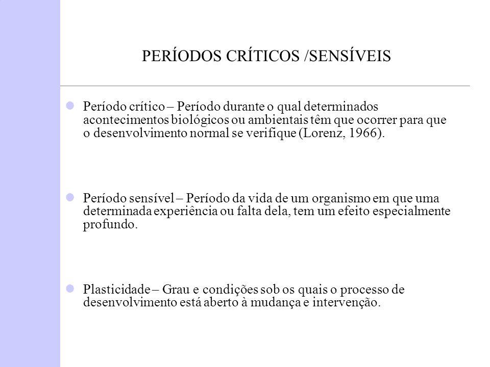 PERÍODOS CRÍTICOS /SENSÍVEIS