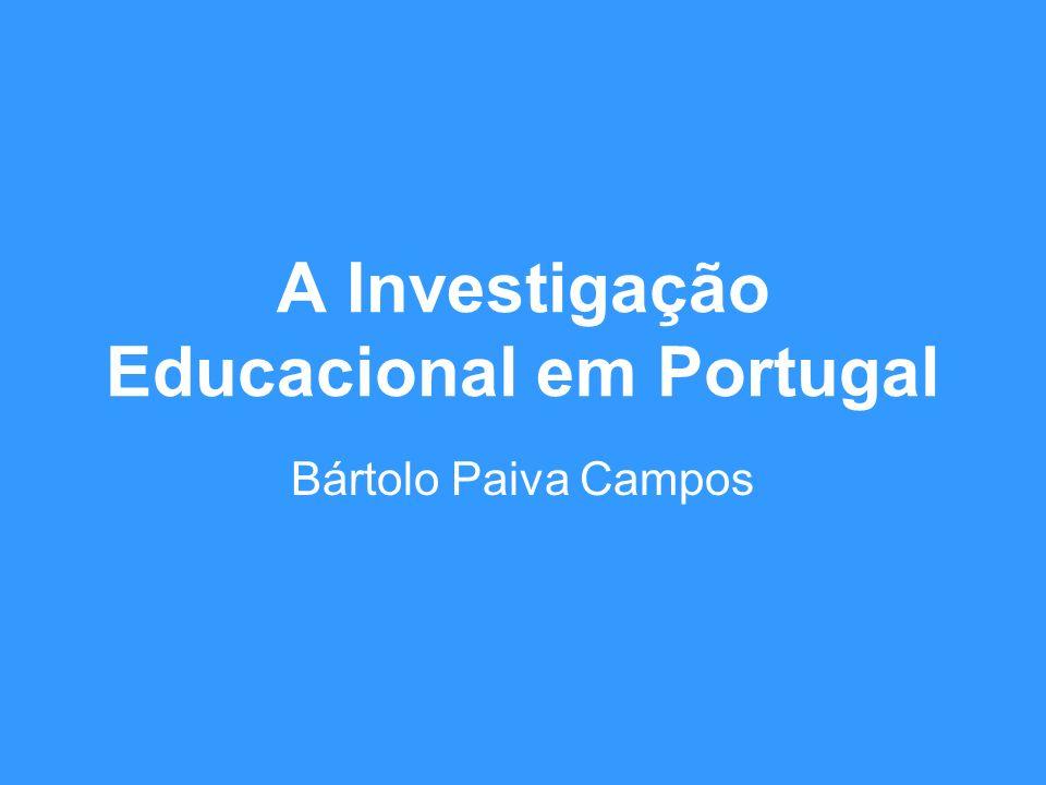 A Investigação Educacional em Portugal