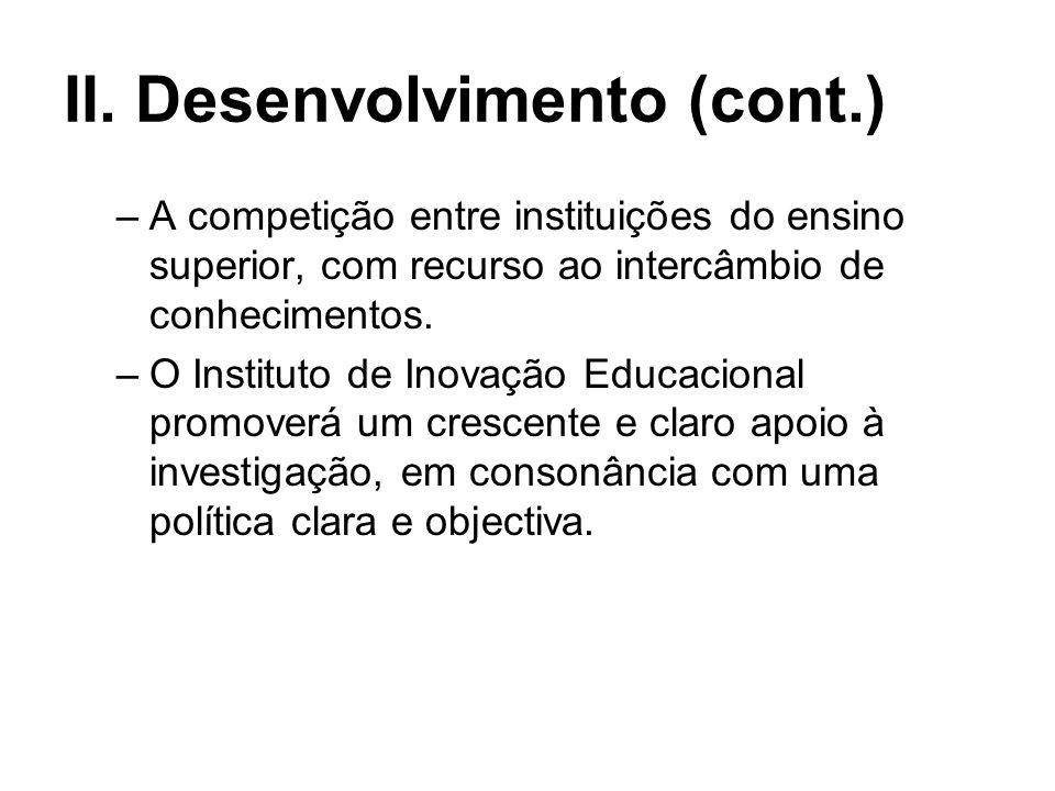 II. Desenvolvimento (cont.)