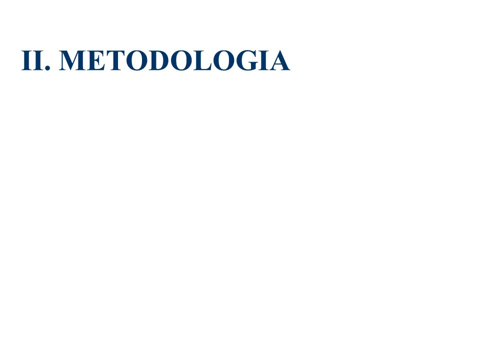 II. METODOLOGIA