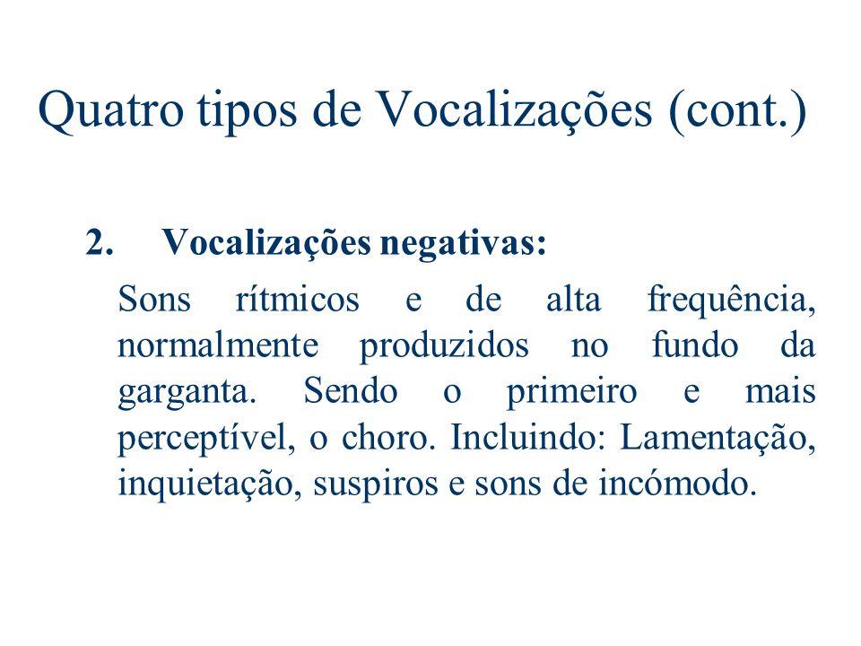 Quatro tipos de Vocalizações (cont.)